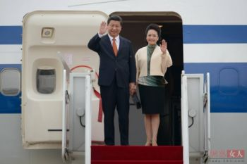中国国家主席习近平乘坐波音747非洲之行